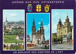 Belgique (Liège-Eupen) Grusse Aus Den OSTKANTONEN  Un Bonjour Des Cantons De L'Est ( Autocar Autobus Buses Bus) - Eupen