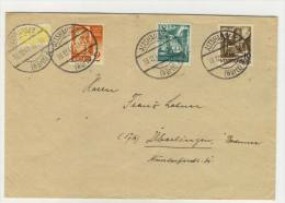 Franz�sische Zone Brief mit Zuschlagsmarke