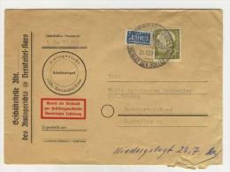 BRD Michel No. 191 gestempelt used auf Brief / mit Inhalt vom Amtsgericht