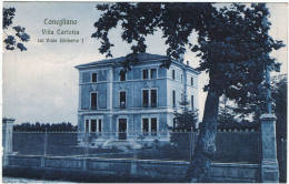 CONEGLIANO:  VILLA  CARLOTTA  SUL  VIALE  UMBERTO  I°  -  FP - Treviso