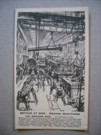 Cartolina Britain At War: Making Munitions. The Howitzer Shop. Prima Guerra Mondiale - Manovre