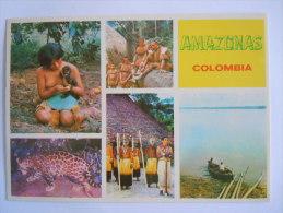 Colombia Colombie Amazonas Multi View Indios Yaguas & Boras Rio Leopardo Amazone Indiens Léopard - Colombie