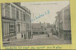 CPA 27, NONANCOURT,  Entrée De La Place Des Halles,  Animé, Juin 2013 163 - Frankrijk