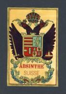 Etiquette De Liqueur: Absinthe Suisse. Lithographie (7´5 X 11´8 Cms) (Ref.67535) - Labels