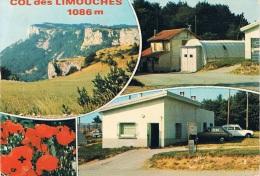 LE CHAFFAL (Drôme) - COL Des LIMOUCHES 1086 M - Multi-vues : Autos, Une Simca 1100 Et Une 204 Break - 2 Scans - France
