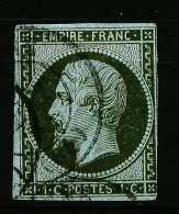 A2040) France Frankreich 1 C Napoleon III Mi.10a Gestempelt Used - 1853-1860 Napoléon III
