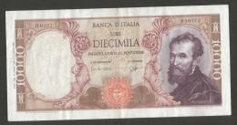 REPUBBLICA ITALIANA  - 10000 Lire - MICHELANGELO-  (Firme:  Carli / Ripa / Decr. 27/07/1964) - [ 2] 1946-… : Repubblica