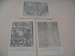 3 CARTES REPRODUCTION D'ANCIENS...LETTRE DE RABELAIS A G.BUDE...BOUTIQUE D'APOTHICAIRE ET ERASME ET SON SECRETAIRE G.COU - Cartes Postales