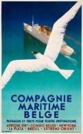 @@@ MAGNET - Compagnie Maritime Belge Passages Et Frets Pour Toutes Destinations, 1936 - Reclame