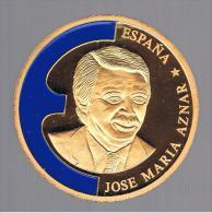 FICHAS - MEDALLAS // Token - Medal - ESPAÑA Jose Maria Aznar EUROPA 1998 - Royaux/De Noblesse
