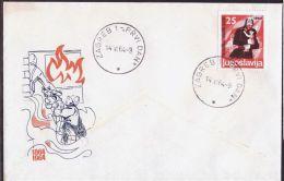 YUGOSLAVIA - JUGOSLAVIA - 100 Y. Anniver.  FIRE  BRIGADES  - FDC - 1964 - Pompieri