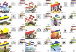 Netherlands 2002, Complete Set Of 12 FDC, Dutch Provinces, De 12 Provincies - FDC