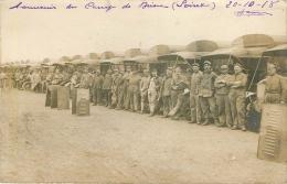 Briare : Carte Photo  Souvenir Du Camp  Datée Du 20 10 1918 - Briare