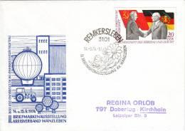 DDR Ganzsache Stempel Remkersleben Aus Jahr 1974 - Covers - Used
