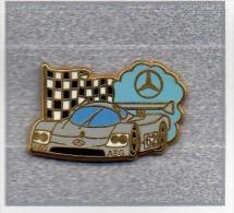 Pin´s  Sport  Automobile  Mèrcédès  N°  62  Avec  A E G  Signé  Arthus  Bertrand - Mercedes