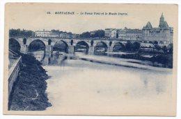 CP, 82, Montauban, Le Vieux Pont Et Le Musée Ingres, Vierge, Ed : G.Artaud - Montauban