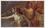 Italia, Stationery, Entier Ganzsache 1906 For The Opening Of  The Simplon Railway Tunnel,+ Postmark Milano,mythology - Mythologie