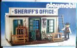 TRES RARE BOITE PLAYMOBIL 3423 (V2) 1983/84 LE BUREAU DU SHERIFF presque compl�te