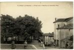 Carte Postale Ancienne Vanosc - Place De La Mairie Et Grande Rue - Autres Communes