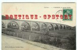VIADUC - Train Et Chemin De Fer Au Viaduc De Vignols - Viaduct Bridge Brucke - Dos Scanné - Ouvrages D'Art