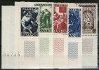 SARRE:  N°263/267 ** CdF     - Cote 130€ - - 1947-56 Occupation Alliée