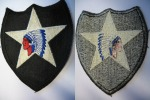 US ARMY - 2nd INFANTRY DIVISION - INDIANS HEAD - Patches