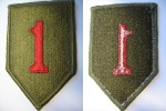 US ARMY - 1st INFANTRY DIVISION - BIG RED ONE - Patches
