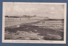 17 CHARENTE MARITIME - CP ANGOULINS SUR MER - PLAGE DE LA PLATERE - EDITION GABY N° 14 - CIRCULEE EN 1950 - Angoulins