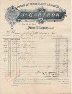 21 NUITS SAINT GEORGES St  FACTURE 1902 Fabrique De Limonade Gazeuse & Eau De Selz  J. CARTRON  - Z3 - 1900 – 1949