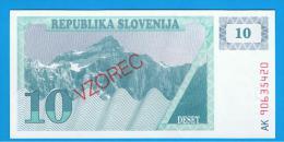 ESLOVENIA - 10 Tolar ND SC P-4S  SPECIMEN - Eslovenia