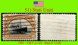 Stati.Uniti-0051 (1901 - Y&T: N.143) - Vereinigte Staaten