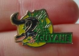 Pin's Guyane, Caiman, Crocodile, Reptile - Badges
