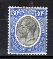 "TANGANYIKA   1927  30 C     MH  ""SEE SCAN FOR QUALITY "" - Tanganyika (...-1932)"