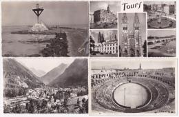 Lot 10 Cpsm Format Cpa Divers France ( Sans Paris/Lourdes) - Frais De Port = 1.30€/France - 1.70€/Europe - 2.1 - Cartes Postales