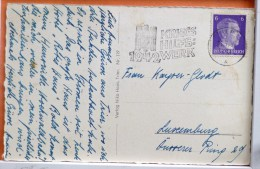 Trier TREVES HAUPTMARKT Niko HAAS N° 119 Voyagé Timbre HITLER Cachet Flamme Aigle Kriegs Hilfs Werk 1942 - Trier