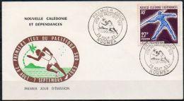 Nouvelle-Calédonie 1963 311 FDC - 1ers Jeux Du Pacifique Sud - Lancer Du Javelot - FDC