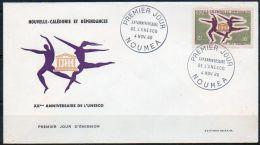 Nouvelle-Calédonie 1966 329 FDC - 20e Anniversaire De L' UNESCO - FDC