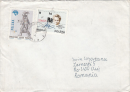 MARIE CURIE, POSTMAN, STAMPS ON COVER, SENT TO ROMANIA, 1991, POLAND - Briefe U. Dokumente