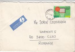 BASKETBALL, STAMP ON AIRMAIL COVER, 1991, POLAND - Briefe U. Dokumente