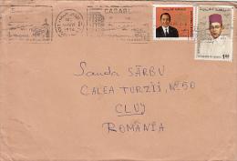 MAROCCO ROYALTIES, CASABLANCA, STAMPS AND POSTMARK ON COVER, 1974, MAROCCO - Morocco (1956-...)