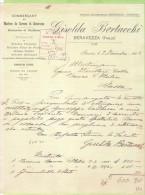 1904--FATTURA COMMERCIALE-SERAVEZZA GISELDA BERTACCHI- - Italia