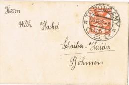 3710. Carta Tarjeta Visita TOPOLCANY (Checoslovaquia) 1922. A Haida - Checoslovaquia
