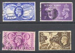 GB, 1949 Olympic Games Complete Set VFU - 1902-1951 (Koningen)