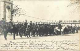 A Identifier -ref A276- Carte Photo -militaires - Cachet Depart Marseille -bouches Du Rhone -1903 - - Régiments
