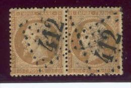 Napoléon III.Dentelé. 1862. Lot N°21 X 2  V4 Ob - 1862 Napoleon III