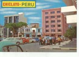MODERNA VISTA DE LA PLAZA DE ARMAS Y CLUB UNION  CHICLAYO  PERU  OHL