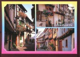 CPM Non écrite 68 EGUISHEIM Multi Vues Maisons Alsaciennes Fleuries Les Remparts - Non Classés