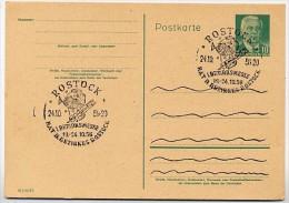 FISCH BEZIRKSMESSE Rostock 1956 Auf DDR  Postkarte P68 - Fische