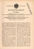 Original Patentschrift - J. Postinett In Königswinter ,1898, Brennofen Für Kunssteine , Trockenofen , Ofen , Ziegelei !! - Architektur