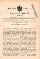 Original Patentschrift - G.A. Kiefer In Pappenheim I. Bayern , 1896 , Bausteine Aus Guß , Steine , Maurer , Mauern !!! - Historische Dokumente